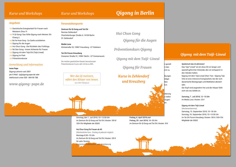 Flyer QiGong Pape in Berlin